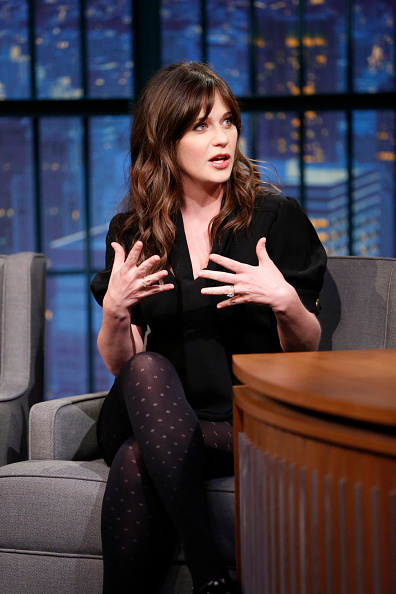 "Celebrity Buzz: ZOOEY DESCHANEL WEARS WOLFORD ON ""LATE NIGHT WITH SETH MEYERS"""