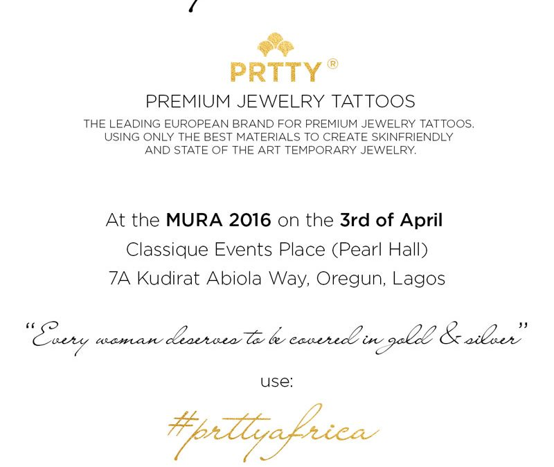 Reminder: PRTTY AFRICA at The Mura 2016 on 3 April