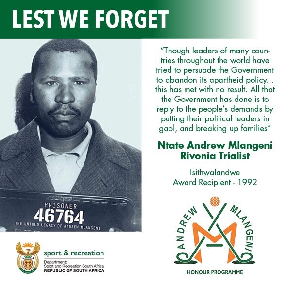 Honoring Legends- Andrew Mlangeni